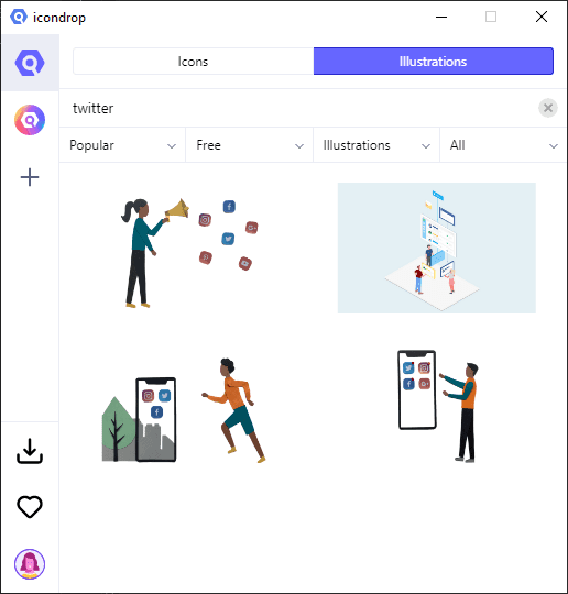 Download Free Icons Illustrations with Iconscout Free Desktop App
