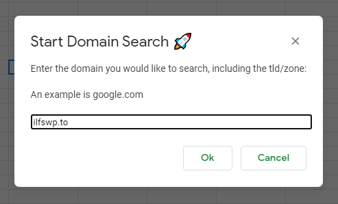 Enter a domain to search