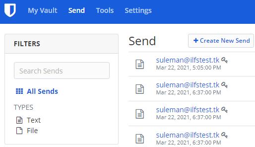Free Online Sensitive Information Sharing Tool by Bitwarden Send