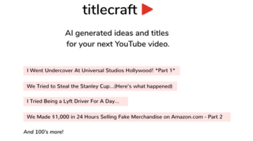 Free YouTube Title Generator to Generate Title Ideas using GPT Title Craft
