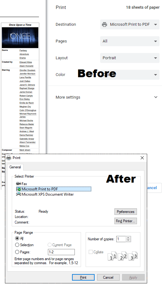 How to Enable System Print Dialog in Chrome, Firefox, Microsft Edge