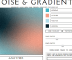 Online Gradient Generator with Noise Effect