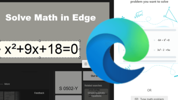 Solve Math Equations with Microsoft Edge Math Solver