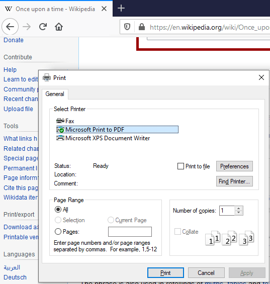 System print dialog enabled in Firefox