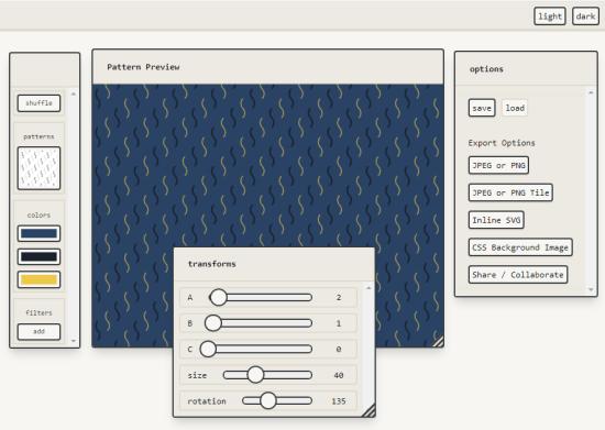 royalty free pattern generator