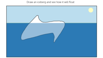 Draw Iceberg to See How It Will Float with this free Website