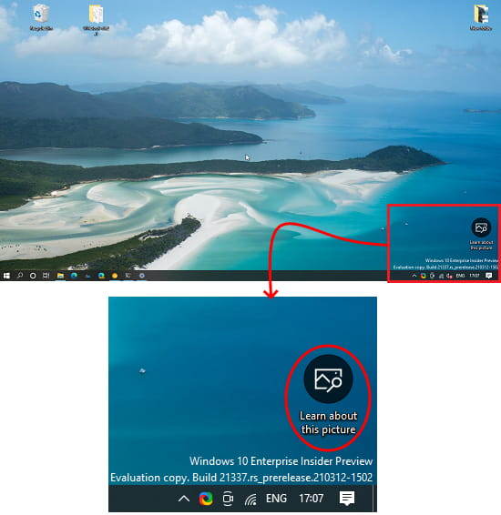 learn about picture Windows Spotlight option