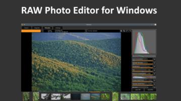 Free RAW Photo Editor with Film Development Technique