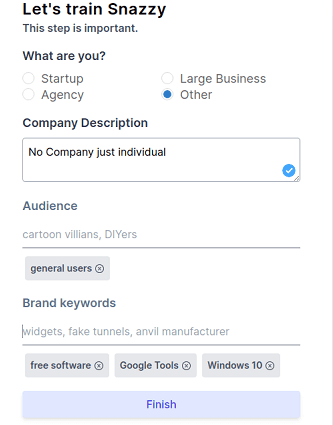 snazzy ai business details