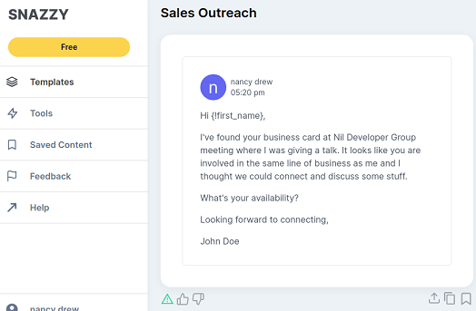 snazzy ai generated email