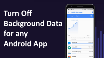 How to Turn Off Background Data for Any Android App?