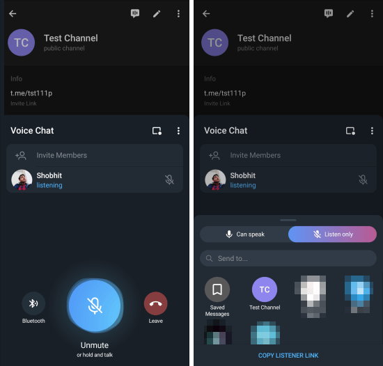 clubhouse-like voice chat in telegram