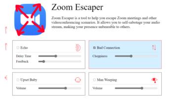 Create Fake Interruptions in Zoom Meetings: Zoom Escaper