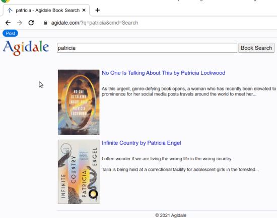 Agidale book search