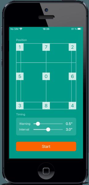 Badminton-Footwork Main Interface
