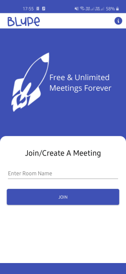 Blupe join or create a video meeting