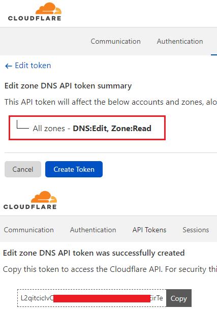 Cloudflare API Token