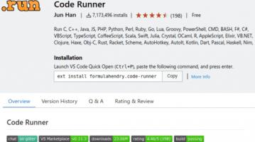 Code Runner in VS Code Marketplace