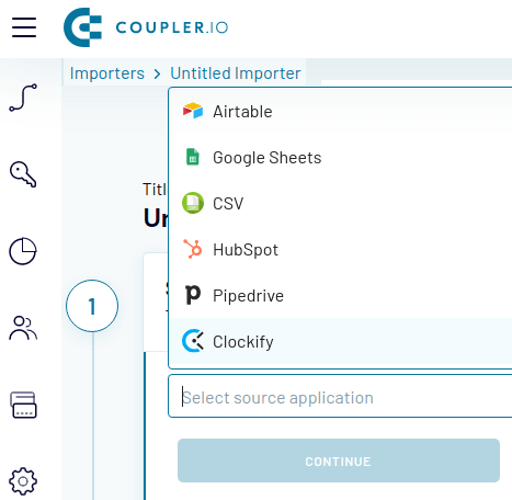 Coupler io input data sources