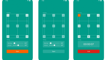Free Badminton Footwork Training app for iPhone