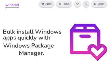 How to Bulk Install Software using Windows 10 Package Manager