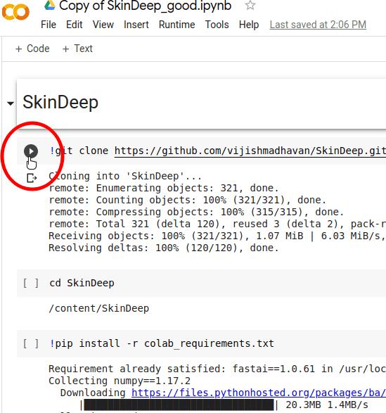 SkinDeep AI Dependency code