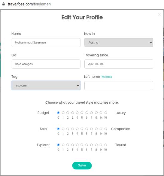 Travelfoss complete profile