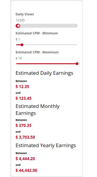YouTube Earnings Calculator promo