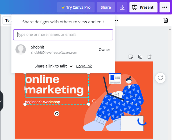 co-create presentation online with canva