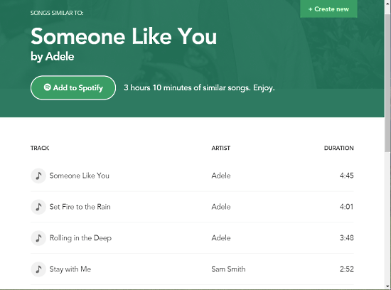 find similar songs using ai on spotify