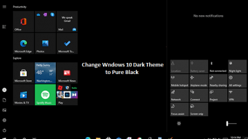 Change Windows 10 Dark Theme to Pure Black Color