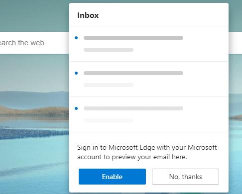 Enable Outlook Tile