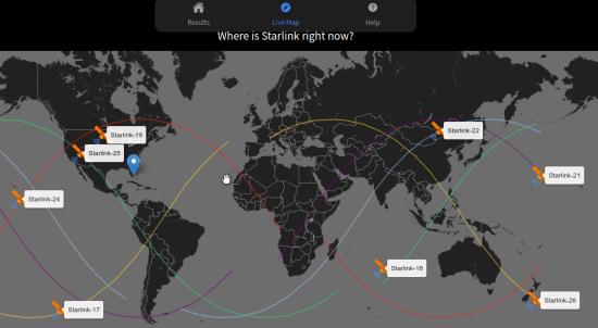 Find Starlink Live Satellites Map
