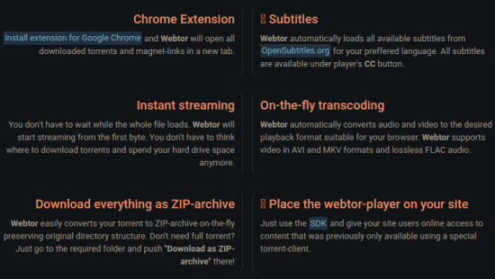 Free Browser Based Torrent Client for Downloading, Playing Torrents