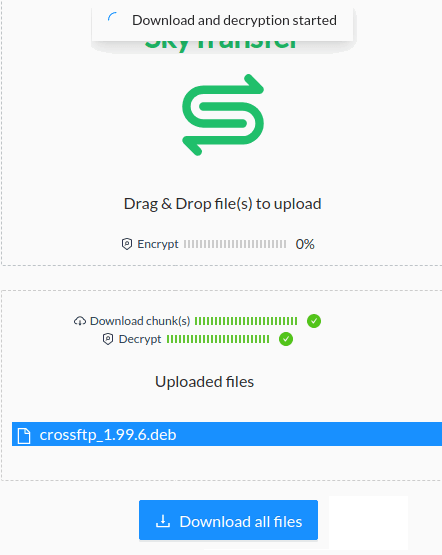 Free Decentralized File Sharing Service based on Sia Network SkyTransfer