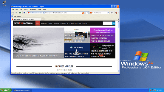 Free Modern and Secure Internet Browser for Windows XP Mypal Browser