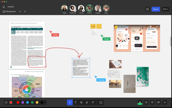 Free Online Whiteboard with Audio Call, Infinite Canvas, PDF Collaboration