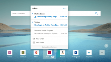 How to use Outlook Smart Tile to Check, Compose Emails in Microsoft Edge