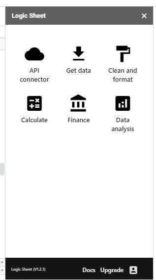 Logic Sheet UI