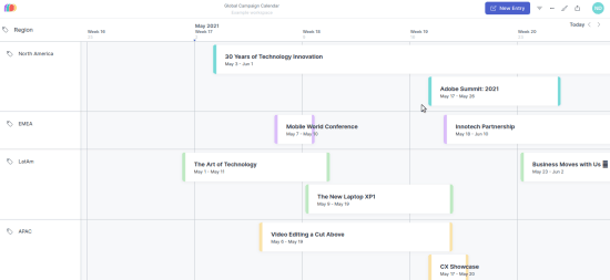 Marketing Calendar to Plan Social Media Content, Email Campaigns