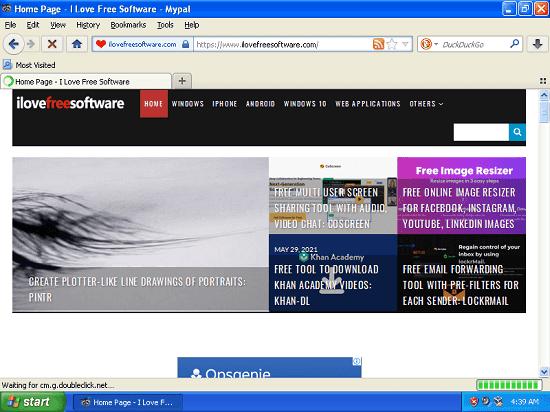 Mypal load websites