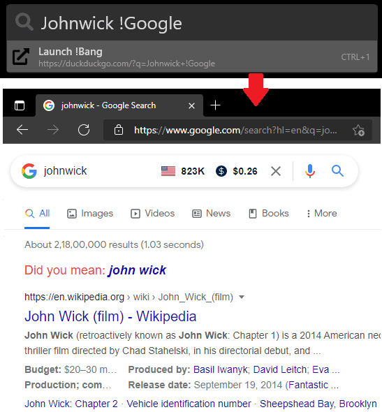Pinpoint Google Search