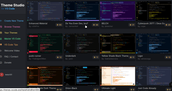 Publish Visual Studio Themes from Scratch VS Code Theme Studio