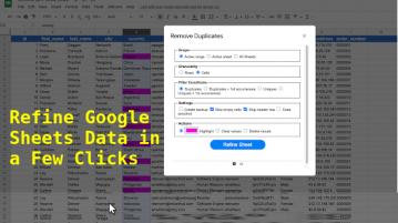 Remove Duplicates, Blank Rows, Cols Split Google Sheet SheetsRefiner
