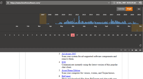 See Archived Version of any Webpage in Current Tab Vandal