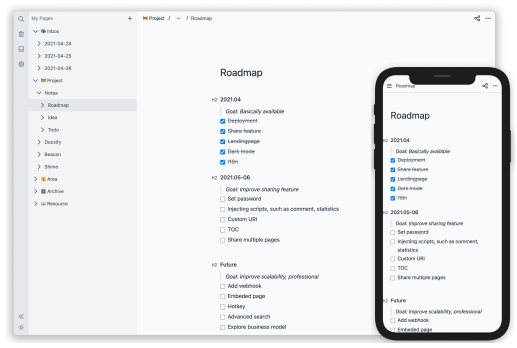 Self Hosted Alternative to Notion to Create Pages, Notes: Notea