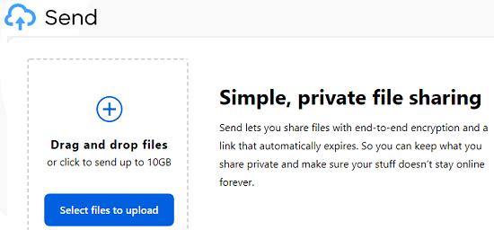 Send Main UI