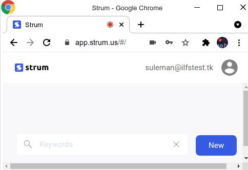 Strum dashboard blank