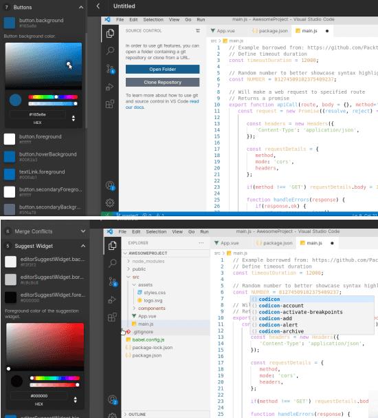 VS Code Theme Studio Theme Editor