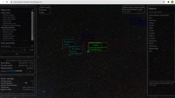 Free Inner, Outer Solar System Explorer with Realtime Simulation